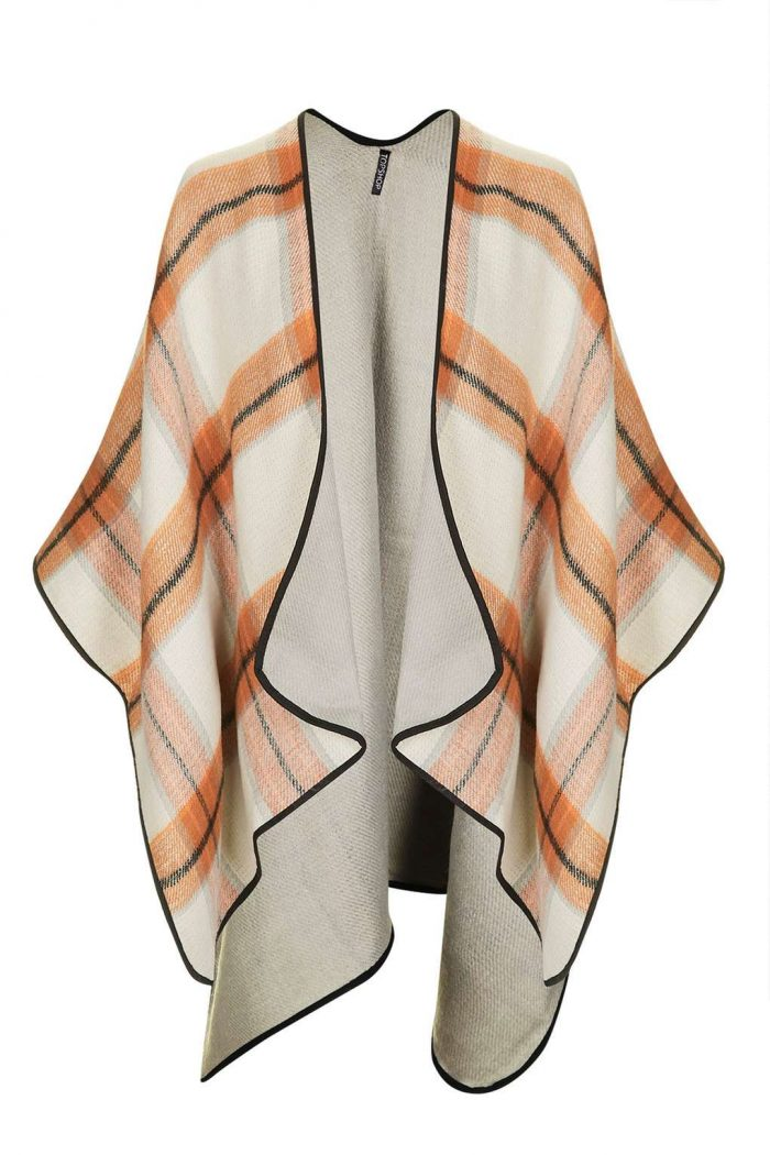 Reversible Check Cape $60